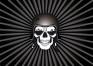 Skull with Black Helmet