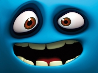 Funny Blue Face