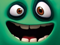 Funny Green Face